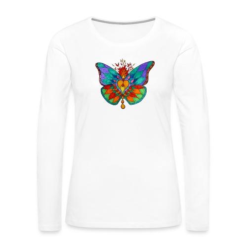 Mandala 4 papillon png - T-shirt manches longues Premium Femme