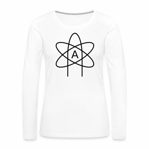 Emblemat ateizmu - Koszulka damska Premium z długim rękawem