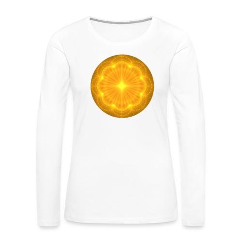 Golden Radiance Mandala Heart - Vrouwen Premium shirt met lange mouwen