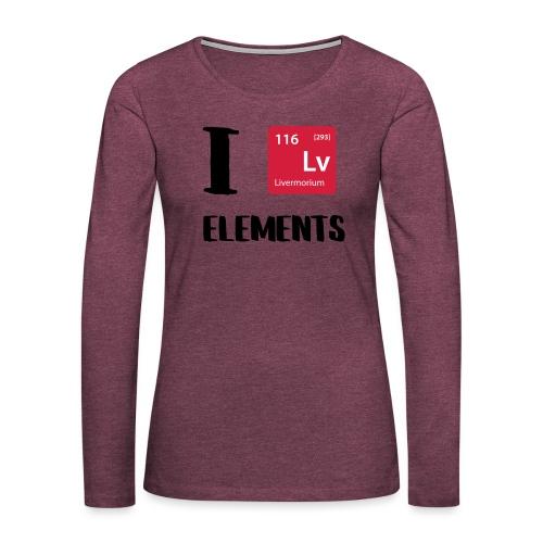 I love Elements - Frauen Premium Langarmshirt
