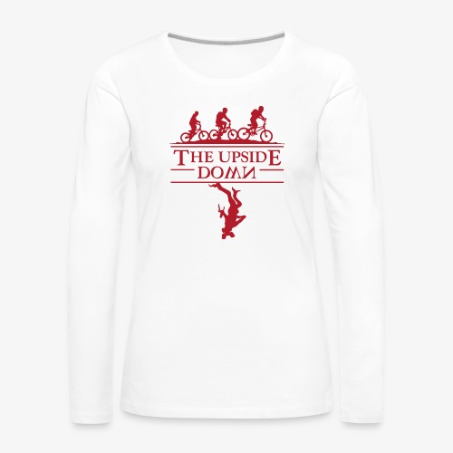 upside down - Koszulka damska Premium z długim rękawem