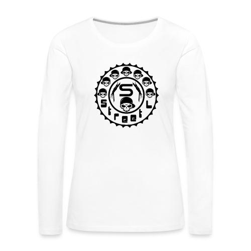 rawstyles rap hip hop logo money design by mrv - Koszulka damska Premium z długim rękawem