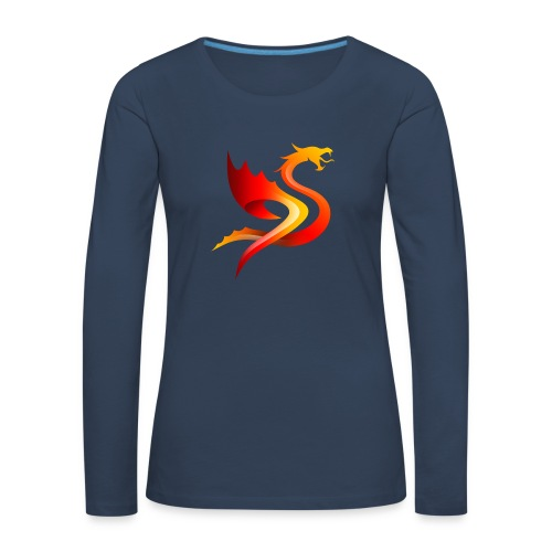 Slay Dragons - Naisten premium pitkähihainen t-paita