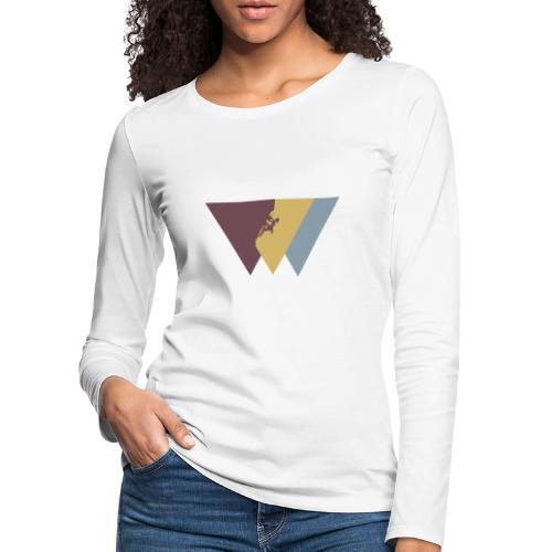 Klettrerin beim Klettern - Frauen Premium Langarmshirt