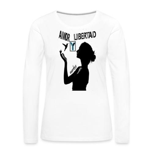 merkos libertad - Camiseta de manga larga premium mujer