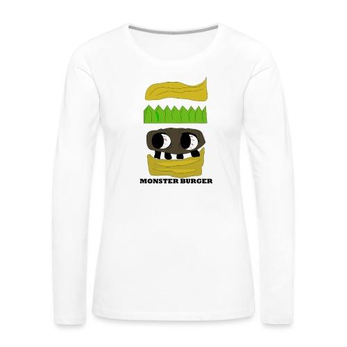 MONSTER BURGER - Frauen Premium Langarmshirt