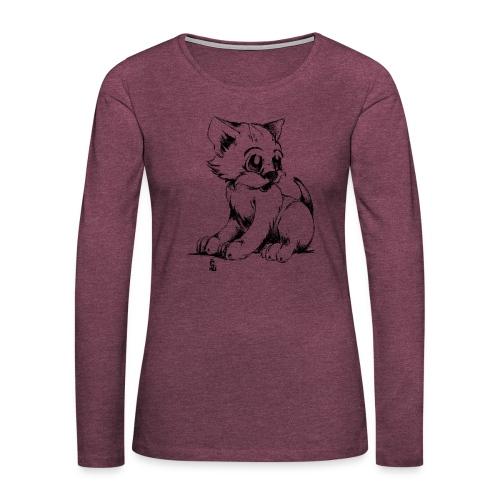 Chaton - T-shirt manches longues Premium Femme