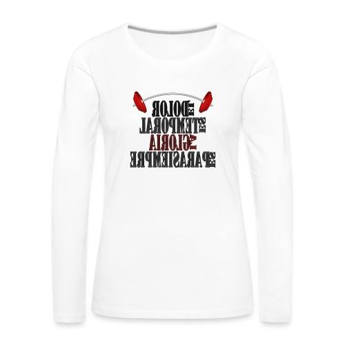 Para el Espejo: GYM - DOLOR TEMPORAL - Camiseta de manga larga premium mujer
