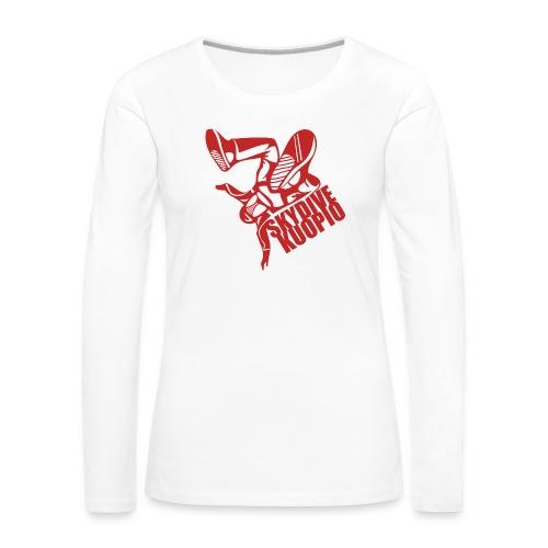 KLU logo red - Naisten premium pitkähihainen t-paita