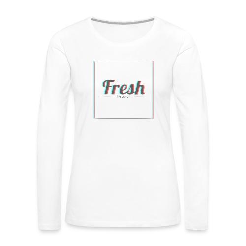 Fresh 3D logo - Women's Premium Longsleeve Shirt