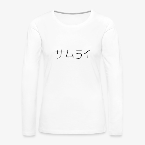 SAMURAI. - T-shirt manches longues Premium Femme