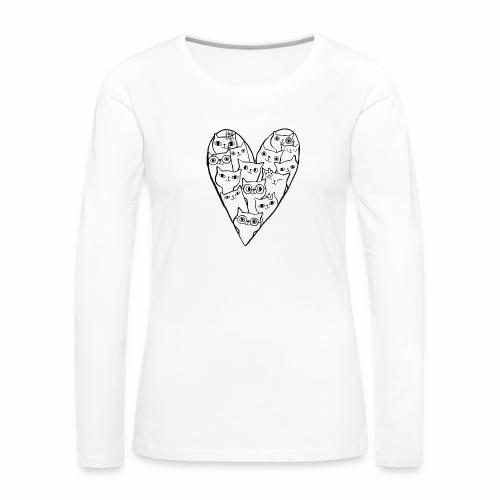 I Love Cats - Women's Premium Longsleeve Shirt