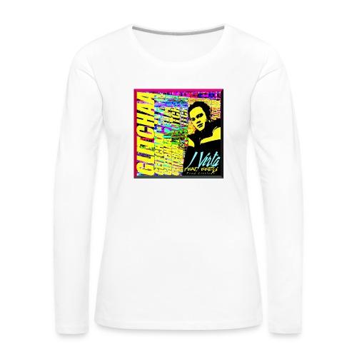 Glitchaa - Naisten premium pitkähihainen t-paita