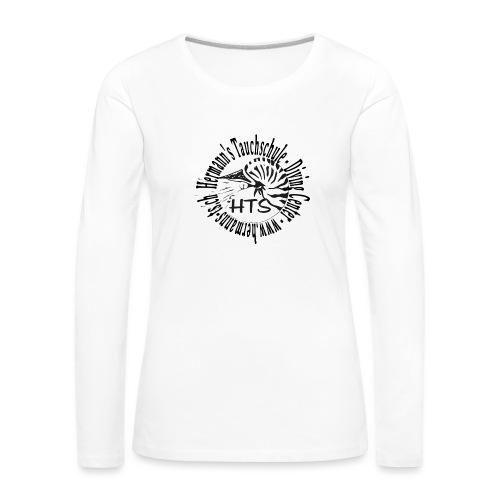 HTS Logo weiss - Frauen Premium Langarmshirt