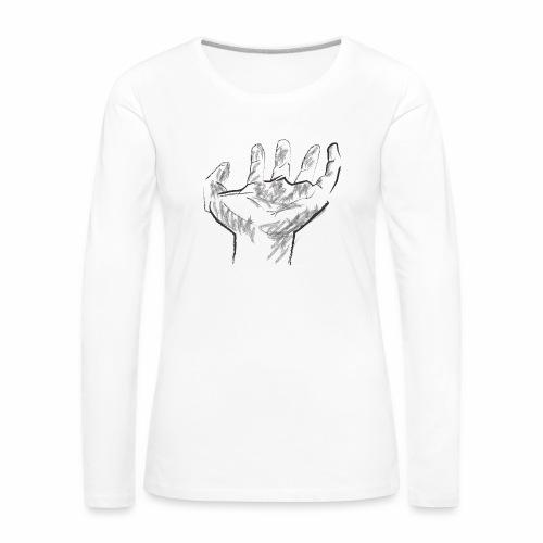 Mano - Camiseta de manga larga premium mujer
