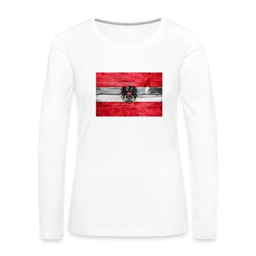 Austria Holz - Frauen Premium Langarmshirt