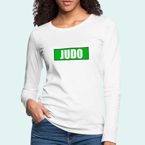 Judo Gruen 3. Kyu - Frauen Premium Langarmshirt