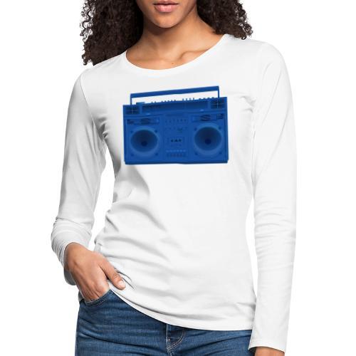 Bestes Stereo blau Design online - Frauen Premium Langarmshirt