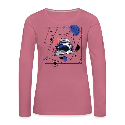 Beste Astronaut Weltraum Designs - Frauen Premium Langarmshirt