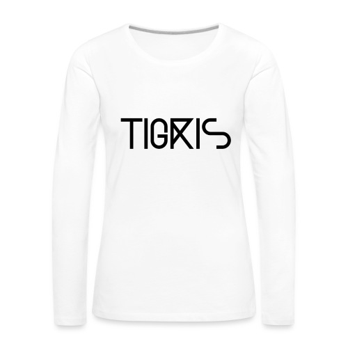 Tigris Vector Text Black - Women's Premium Longsleeve Shirt