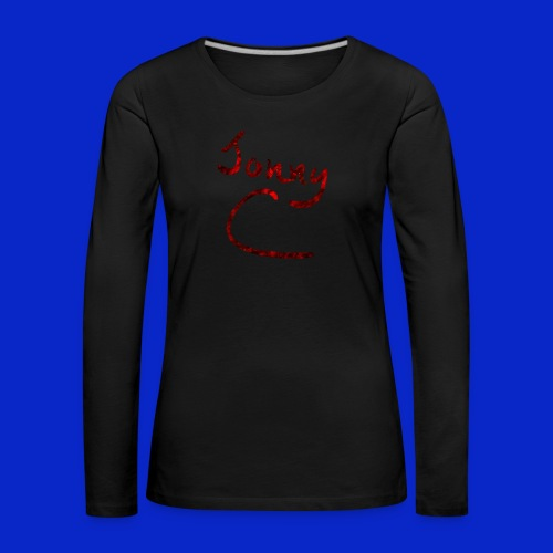 Jonny C Red Handwriting - Women's Premium Longsleeve Shirt