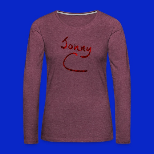 Jonny C Red Handwriting - Women's Premium Longsleeve Shirt