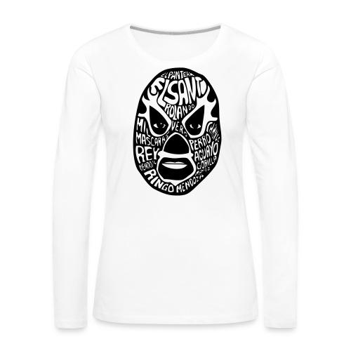 luchador mask2 - Vrouwen Premium shirt met lange mouwen