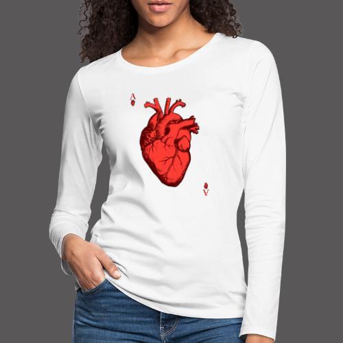 Herz Ass - Frauen Premium Langarmshirt