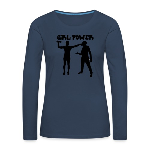 GIRL POWER hits - Camiseta de manga larga premium mujer