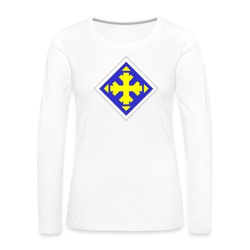 Mäksäreppu, vaalean sininen - Naisten premium pitkähihainen t-paita