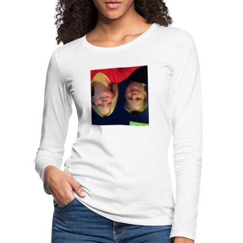 Gammelt logo - Dame premium T-shirt med lange ærmer