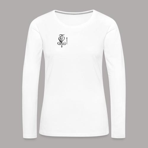 Zirkel, schwarz (vorne) - Frauen Premium Langarmshirt