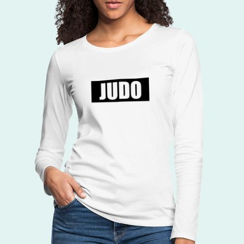 Judo Schwarz DAN - Frauen Premium Langarmshirt