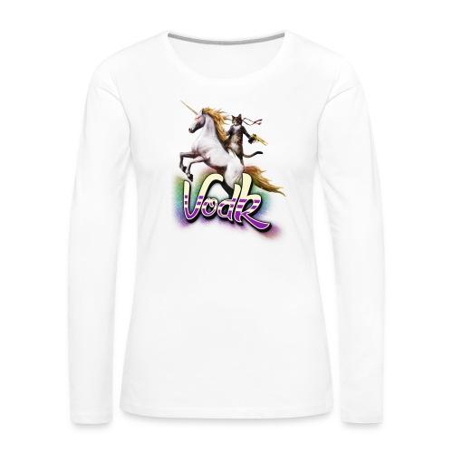 VodK licorne png - T-shirt manches longues Premium Femme