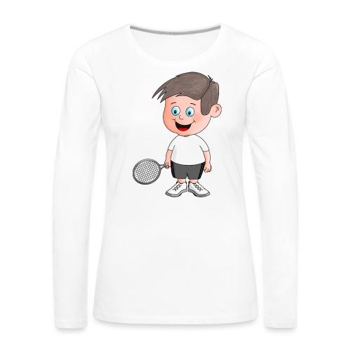 Junger Tennisspieler - Frauen Premium Langarmshirt