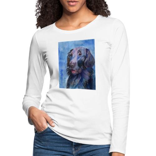 flatcoated retriever - watercolor - Dame premium T-shirt med lange ærmer