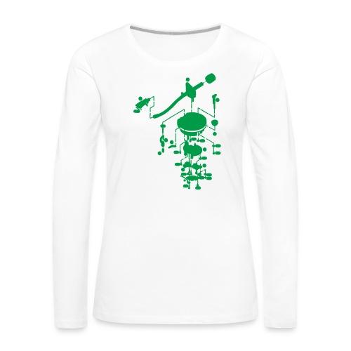 tonearm05 - Vrouwen Premium shirt met lange mouwen
