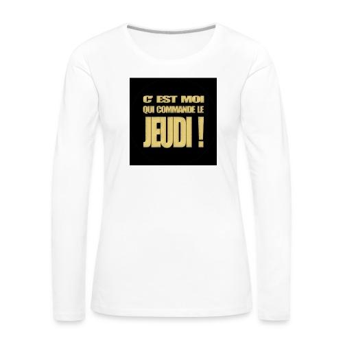 badgejeudi - T-shirt manches longues Premium Femme