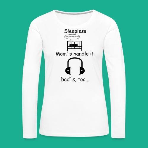 Sleepless - Frauen Premium Langarmshirt
