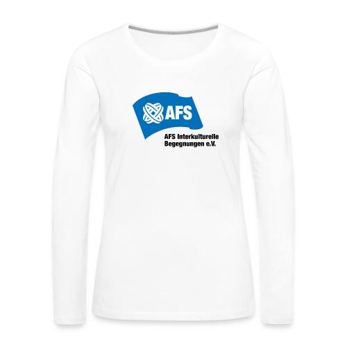 AFS-Logo - Frauen Premium Langarmshirt
