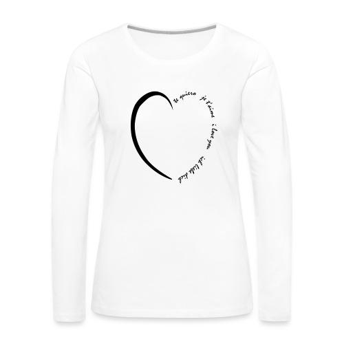 Multi Love - T-shirt manches longues Premium Femme