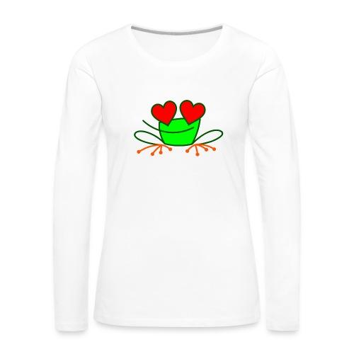 Frog in Love - Women's Premium Longsleeve Shirt