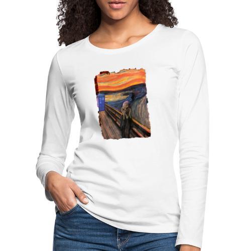Screaming Tardis - Women's Premium Longsleeve Shirt