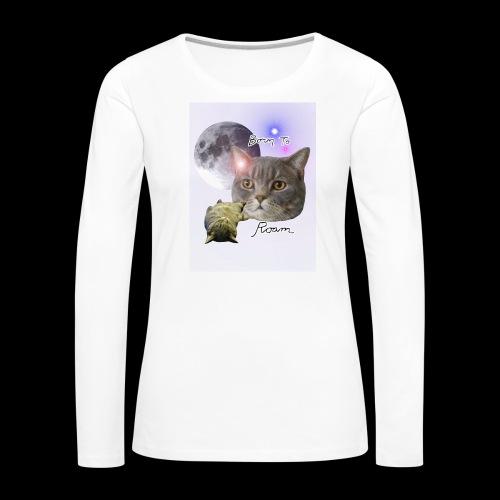 Sieni- muki erilaisille juomaseoksille - Naisten premium pitkähihainen t-paita