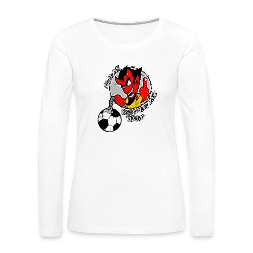 ontwerp_vrijgezellen3 - Vrouwen Premium shirt met lange mouwen