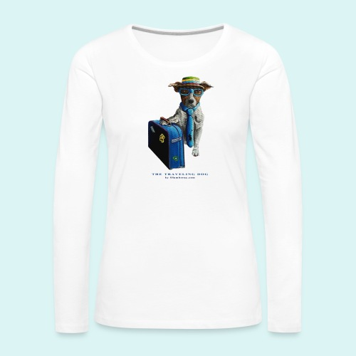 The Traveling Dog - Women's Premium Longsleeve Shirt