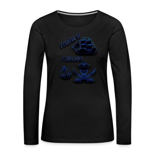 Pirates - Naisten premium pitkähihainen t-paita
