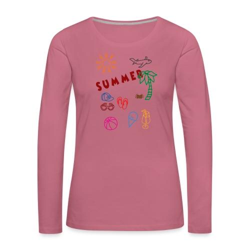 Summer - Naisten premium pitkähihainen t-paita