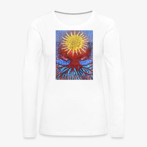 Niebiańskie Drzewo - Koszulka damska Premium z długim rękawem