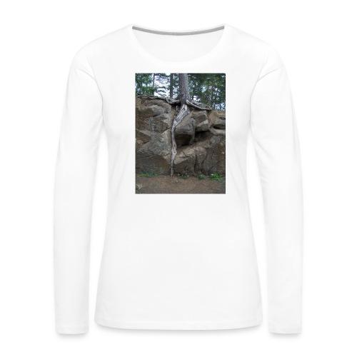 Juuret tukevasti maassa - Naisten premium pitkähihainen t-paita